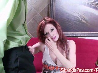Sexy Hooter's Girl Shanda Fay Sucks For a TIp