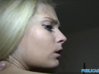 PublicAgent Hot Blonde with fine ass fucked