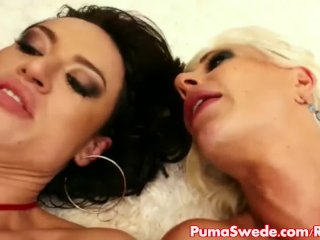 Euro Babe Puma Swede & Franceska in 3some!