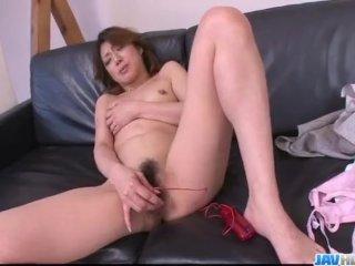 Hot milf, Reina Nishio, shows off in nasty m