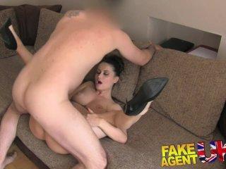 FakeAgentUK Anal fucking for hot brunette