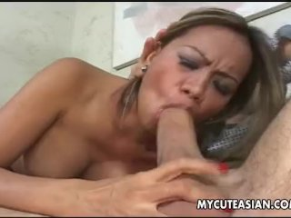 Asian slut has a good time getting pussy fuck