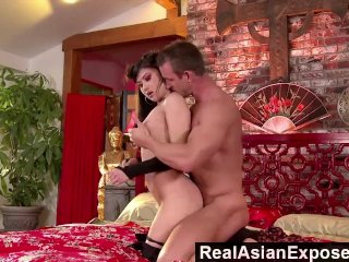 RealasianExposed  Asian Cutie Plowed By a