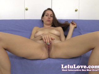 Spreading my pussy for you during a jerkoff e