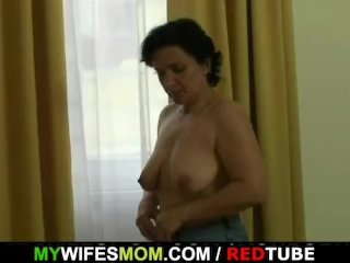 Horny man bangs his mother-in-law