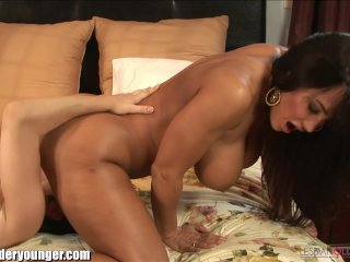 Lisa Ann Tribbing With Horny Young Lesbian