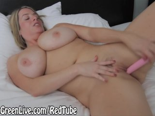 Blonde Busty Maggie Green Gets off with Toy!