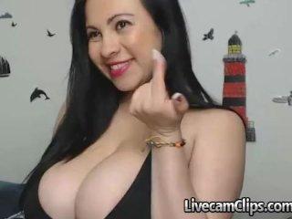 Cam Latina Bouncing Big Boobies While Fucking