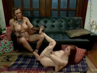 Lesbian Wish For Christmas Footsex