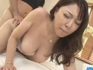 Busty milf, Hinata Komine, enjoys strong