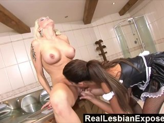 RealLesbianExposed  Lonely Housewife Fucks