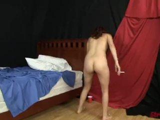 Leah Cortez Smoking Cummy Handjob