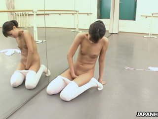The Adult Video Experience Presents Asian ballerina has an itch she has to rub