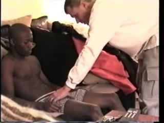 Stroking and Sucking Amateur Straight Boy