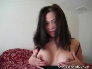 Brunette Babe is a Good Cock Sucker