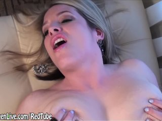 Natural Busty Maggie Green Masturbates & Cums