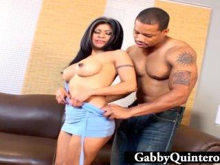 Gabby Quinteros Facialized By Black Cock