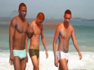 Big Dick Latino Threesome Gay Sex