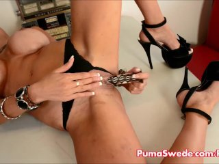 Euro babe Puma Swede Gets Off With Glass Toy!
