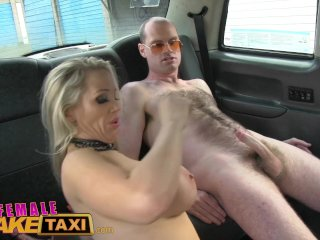 FemaleFakeTaxi Runaway passenger restrained
