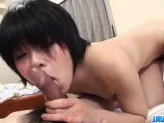 Hiromi devours cock before getting fucked