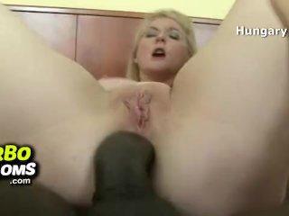 Big black anal sex with busty milf Ildiko