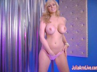 Sexy Milf Julia Ann in Strip Tease &
