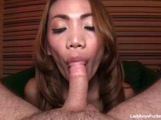 Ladyboy Gitar Blowing Off Fat Cock