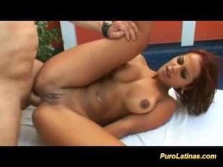 latina with big nipples loves deep anal