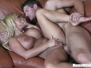 Horny Blonde Mom Holly Halston Fucks A Young