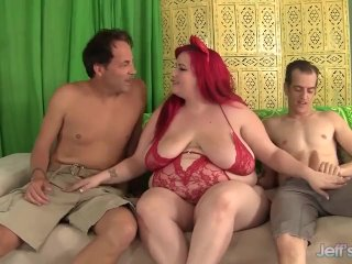 Fatty Eliza Allure taked 2 dicks in her pussy