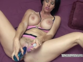 Melissa Swallows uses toys to make herself cu