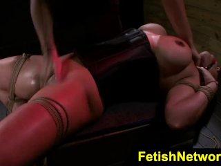 FetishNetwork Becca Diamond cock gagging