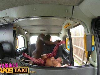FemaleFakeTaxi Big black cock makes cabbie cum