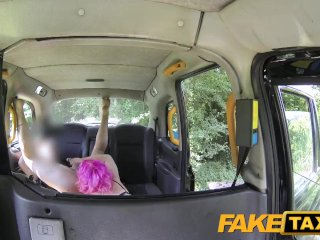 Fake Taxi Pink hair n wet pussy gets hammered