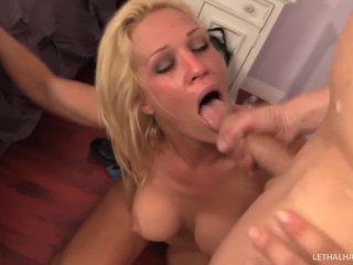 MILF pornstar Ava Delanie seduces steps son, fucks his big cock and swallow