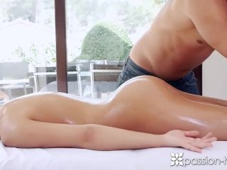 Passion-HD – Brunette with great ass Anna Rose gets more than a rub down