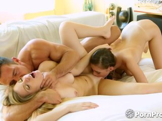 PornPros – Teens Trisha Parks and Sky West pussies fucked in threesome