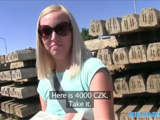 PublicAgent Outdoor fucking with sexy blonde