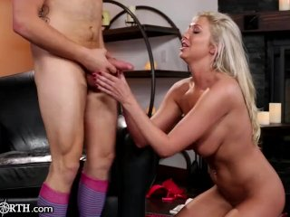 British Mom Horny for her Step-Son