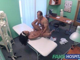 FakeHospital Double cum for tight ebony pussy
