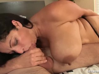 Huge-titted milf enjoys a big cock