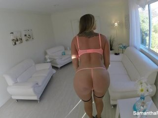 Samantha Saint takes on a big cock in a sexy POV action