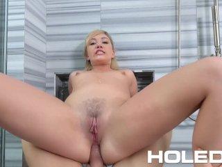 Holed – Blonde Zelda Morrison masturbates before getting anal fucked