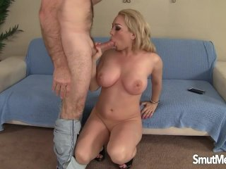 Blonde girls fucked and cum in her mouth