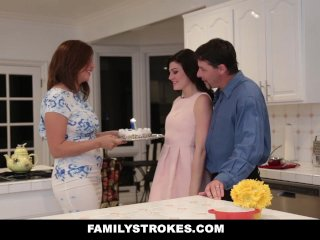 FamilyStrokes – Fucking My Stepdad While Mom Cooks
