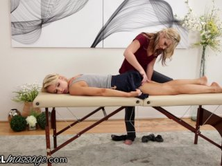 AllGirlMassage Reluctant Blonde Gets Ass Licked