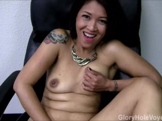 Asian MILF's First Gloryhole Visit