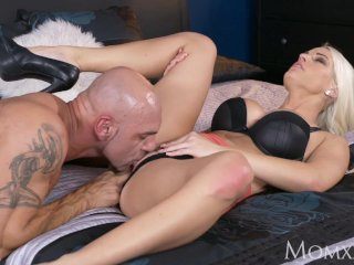 MOM Cock hungry blonde beauty gets creampie from her big buff hunky man