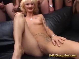 Milf first gangbang orgy
